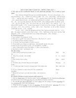 ĐỀ LUYỆN THI VÀ ĐÁP ÁN - TIẾNG ANH ( Số 11 ) pptx