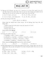 bộ đề ôn luyện thi trắc nghiệm môn hoá học bộ đề 8