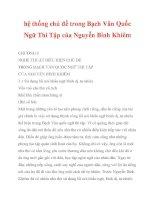 hệ thống chủ đề trong Bạch Vân Quốc Ngữ Thi Tập của Nguyễn Bỉnh Khiêm_6 pdf