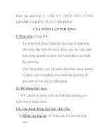 Giáo án toán lớp 5 - Tiết 107: DIỆN TÍCH XUNG QUANH VÀ DIỆN TÍCH TOÀN PHẦN CỦA HÌNH LẬP PHƯƠNG docx