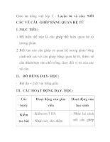 Giáo án tiếng việt lớp 5 - Luyện từ và câu: NỐI CÁC VẾ CÂU GHÉP BẰNG QUAN HỆ TỪ ppsx