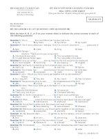 Ðề thi tuyển sinh cao đẳng khối D năm 2011 môn Tiếng anh - Mã đề 475 docx