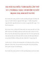 ĐẠI HỘI ĐẠI BIỂU TOÀN QUỐC LẦN THỨ VIII (THÁNG 6-1996) VÀ NHIỆM VỤ ĐẨY MẠNH CNH, HĐH ĐẤT NƯỚC_1 doc