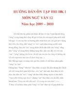 HƯỚNG DẪN ÔN TẬP THI HK I MÔN NGỮ VĂN 12 Năm học 2009 – 2010_6 doc