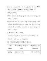 Giáo án tiếng việt lớp 5 - Luyện từ và câu: NỐI CÁC VẾ CÂU GHÉP BẰNG QUAN HỆ TỪ pdf