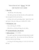 Giáo án khoa học lớp 5 - Bài dạy: ÔN TẬP CON NGƯỜI VÀ SỨC KHOẺ pptx