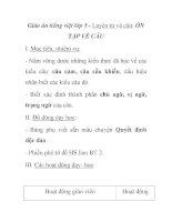 Giáo án tiếng việt lớp 5 - Luyện từ và câu: ÔN TẬP VỀ CÂU pps