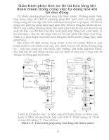 Giáo trình phân tích sơ đồ tái hóa lỏng khí thiên nhiên trong công việc tự động hóa khi tải dao động p1 pot