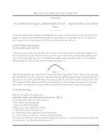 Máy CNC và công nghệ gia công trên máy CNC - Chương 1 ppsx