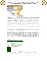 Giáo trình hướng dẫn sử dụng những tính năng ưu việt của các chương trình diệt virus phần 1 pdf