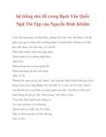 hệ thống chủ đề trong Bạch Vân Quốc Ngữ Thi Tập của Nguyễn Bỉnh Khiêm_4 pdf