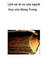 Lịch sử di cư của người Hoa vào Đàng Trong doc