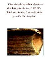 Cảm hứng thế sự - điểm gặp gỡ và khác biệt giữa tiểu thuyết Hồ Biểu Chánh với tiểu thuyết của một số tác giả miền Bắc cùng thờ_4 pdf
