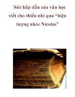 """Sức hấp dẫn của văn học viết cho thiếu nhi qua """"hiện tượng nhóc Nicolas"""