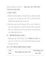Giáo án tiếng việt lớp 5 - Tập làm văn: TRẢ BÀI VĂN TẢ CÂY CỐI doc