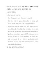 Giáo án tiếng việt lớp 5 - Tập đọc: LUẬT BẢO VỆ, CHĂM SÓC VÀ GIÁO DỤC TRẺ docx