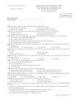 Bộ đề thi Sinh học Không phân ban: Đề 6 pptx