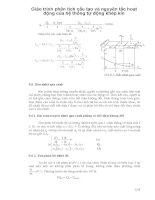Giáo trình phân tích cấu tạo và nguyên tắc hoạt động của hệ thống tự động khép kín p1 pps
