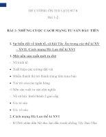ĐỀ CƯƠNG ÔN THI LỊCH SỬ 8 Bài 1-2 ppt