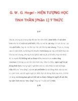 G. W. G. Hegel - HIỆN TƯỢNG HỌC TINH THẦN [Phần 1]:Ý THỨC_2 ppsx