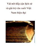 Vài nét tiếp cận lịch sử và giá trị văn xuôi Việt Nam hiện đại _2 ppt