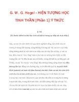 G. W. G. Hegel - HIỆN TƯỢNG HỌC TINH THẦN [Phần 1]:Ý THỨC_3 ppt