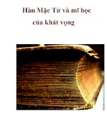 Hàn Mặc Tử và mĩ học của khát vọng _3 pdf