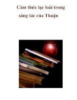 Cảm thức lạc loài trong sáng tác của Thuận _2 docx