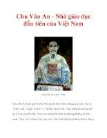 Chu Văn An - Nhà giáo dục đầu tiên của Việt Nam pps