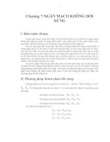 Ngắn mạch trong hệ thống điện - Chương 7 docx