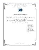 Tiểu luận Quản trị chất lượng: Tích thực trạng áp dụng hệ thống quản lý chất lượng ISO 9001:2008 tại Công Ty DSG Viet Nam
