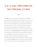 G. W. G. Hegel - HIỆN TƯỢNG HỌC TINH THẦN [Phần 1]:Ý THỨC_4 pot
