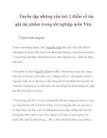 Tuyển tập những câu hỏi 2 điểm về tác giả tác phẩm trong tốt nghiệp môn Văn_3 pptx
