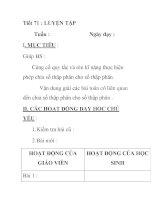 Tiết 71 : LUYỆN TẬP pdf