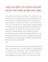 VIỆT NAM TRÊN CON ĐƯỜNG ĐỔI MỚI ĐI LÊN CHỦ NGHĨA XÃ HỘI (1986 - 2000)_3 pptx