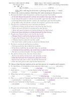 KIỂM TRA 1 TIẾT BI SỐ 2 (2010-2011) MÔN: TIẾNG ANH – KHỐI 12 ppsx