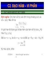 bài giảng điện tử toán kinh tế đạo hàm và vi phân