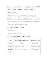 Giáo án tiếng việt lớp 5 - Luyện từ và câu: NỐI CÁC VẾ CÂU GHÉP BẰNG QUAN HỆ TỪ pps
