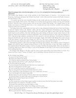 ĐỀ THI THỬ ĐẠI HỌC LẦN II Môn: TIẾNG ANH Năm học: 2010-2011 pps