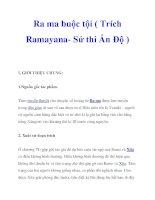 Ra ma buộc tội ( Trích Ramayana- Sử thi Ấn Độ ) docx