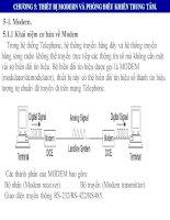GIÁO TRÌNH hệ THỐNG điều KHIỂN GIÁM sát và THU THẬP dữ LIỆU TRONG hệ THỐNG điện SCADA CHƯƠNG 5 THIẾT bị MODERN và PHÒNG điều KHIỂN TRUNG tâm