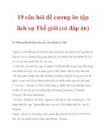19 câu hỏi đề cương ôn tập lich sự Thế giới (có đáp án)_5 potx