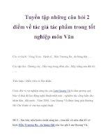 Tuyển tập những câu hỏi 2 điểm về tác giả tác phẩm trong tốt nghiệp môn Văn_6 ppsx