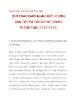 CAO TRÀO CÁCH MẠNG GIẢI PHÓNG DÂN TỘC VÀ TỔNG KHỞI NGHĨA THÁNG TÁM (1939-1945)_1 ppt