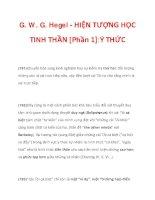 G. W. G. Hegel - HIỆN TƯỢNG HỌC TINH THẦN [Phần 1]:Ý THỨC_6 ppsx
