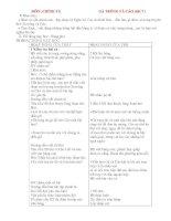 Giáo án lớp 4: MÔN :CHÍNH TẢ GÀ TRỐNG VÀ CÁO (tiêt 7 ) I/ Mục tiêu : + Nhớ và viết chính xác , pptx