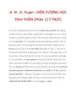 G. W. G. Hegel - HIỆN TƯỢNG HỌC TINH THẦN [Phần 1]:Ý THỨC_5 pps
