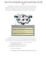 Giáo trình hướng dẫn cấu hình frame delay cho Vật Lý phần 1 ppsx