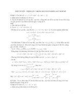 Tiếp tuyến  Tiệm cận trong bài toán khảo sát hàm số