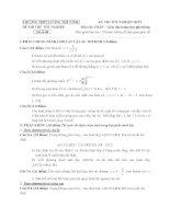 đề thi thử tốt nghiệp thpt môn toán - thpt lương thế vinh đề (12)